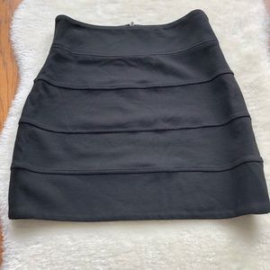 Aritzia Talula black Gina Bandage skirt back zip 6